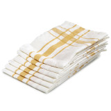 "Camaret Tea towel 27x27"" Gold"