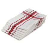 "Camaret Tea towel 27x27"" Red"