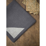 Bermuda Grey/White Corners Table Linens