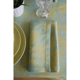 Breeze Blue Lake Patterned 20x20 in Napkin