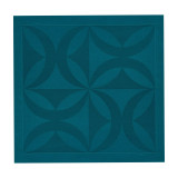 Ellipse Peacok Blue Square 47 In Napkin