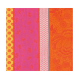 Zingaro Orange Napkin Square 21 in