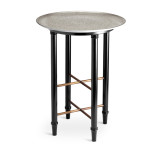 Alchimie Platinum Side Table 16 x 21 in