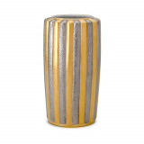 Gold + Platinum Vase - Large