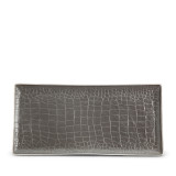 Grey Crocodile Rectangular Tray