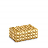 Pyramide Rectangular Box - Gold - Small 5.5 x 4 x 2 in