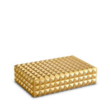 Pyramide Rectangular Box - Gold - Medium 9 x 6 x 2.5 in