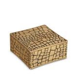 Croco Square Box 6.25 x 6.25 x 3 in
