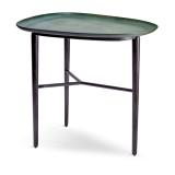 Tulum Platter Table Green + Blackened Bronze Base
