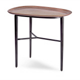 Tulum Platter Table Pink + Blackened Bronze Base