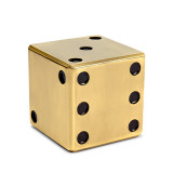 Games - Dice Decorative Box - Gold 4.5 x 4.5 x 4.5 in