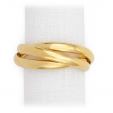 Three-Ring Gold Napkin Rings, Four