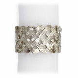Braid Platinum Napkin Rings, Four
