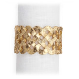 Braid Gold Napkin Rings, Four