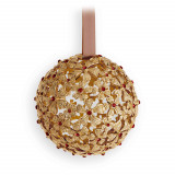 Garland Gold + Red Crystals 3 in Ornament