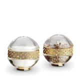 Pave Band Jewel Gold/Yellow Crystals Salt & Pepper Shakers