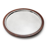 Kenya Indian Rosewood Serve Tray w/Croc Insert 16 in
