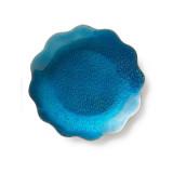 Symphony Turquoise Enamel Dish 6 in (4pc Box)