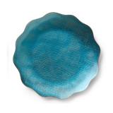 Symphony Turquoise Enamel Dish 8 in