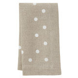 Belle napkins (set of 4), beige/white polka dot