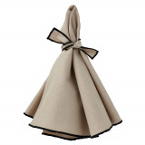 Napa napkins (set of 4), beige/black hem
