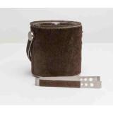 Browmley Dark Brown Ice Bucket W/Tong Rd Cowhide
