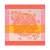 Fleurs Gourmandes Peach Napkin Square 22 in