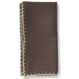 Whipstitch Chocolate With Natural Napkin - 20 in. sq