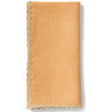 Whipstitch Mustard With Natural Napkin - 20 in. sq