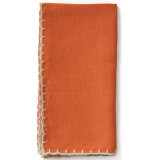 Whipstitch Pumpkin With Natural Napkin - 20 in. sq