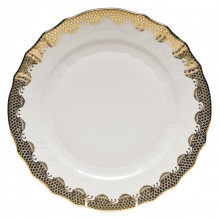 Fish Scale White Gold Border Dinnerware