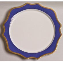 Anna's Palette Indigo Blue Charger 12 in Round