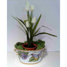 Anna's Favorites Iris Oval Cachepot 7 in