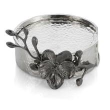 Black Orchid Coaster Set, Six