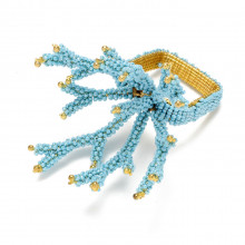 Coral Branch Turquoise Napkin Ring