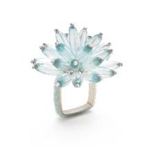 Constellation Napkin Ring Seafoam/Crystal