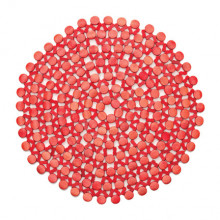 Round Bamboo Coral Placemat