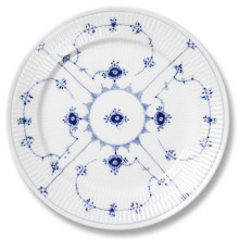 Blue Fluted Plain Dinnerware | Gracious Style
