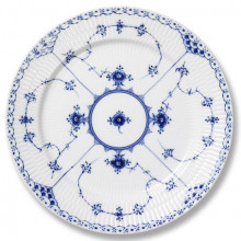 Blue Fluted Half Lace Dinnerware | Gracious Style
