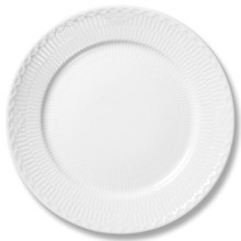 White Fluted Half Lace Dinnerware | Gracious Style