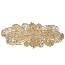 Art Nouveau Silver/Gold Runner