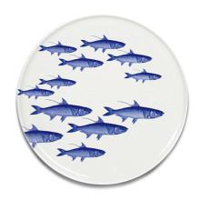 School of Fish Blue Dinnerware | Gracious Style