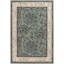 Alfresco ALF9594 Green Floral Rug