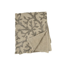 Tree of Life Beaded Throw Linen 50x60 | Gracious Style