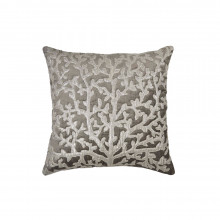 Tree of Life Applique Pillow Pearl Gray 20x20 | Gracious Style