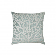 Tree of Life Applique Pillow Sea Foam 20x20 | Gracious Style