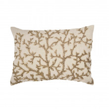 Tree of Life Beaded Pillow Gold 14x20 | Gracious Style