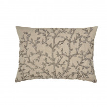 Tree of Life Beaded Pillow Silver 14x20 | Gracious Style