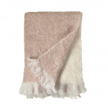 Dip Dye Mohair Throw Blush 50x70 | Gracious Style