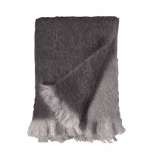 Dip Dye Mohair Throw Charcoal 50x70 | Gracious Style